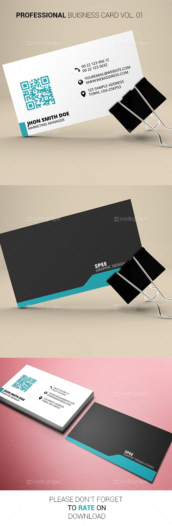 Professional Business card Vol. 01