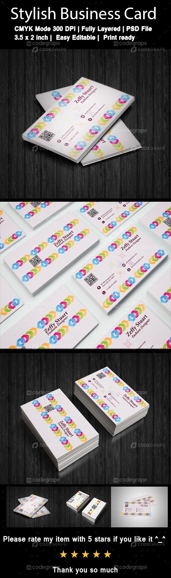 Modern Business Card For Fashion Designer