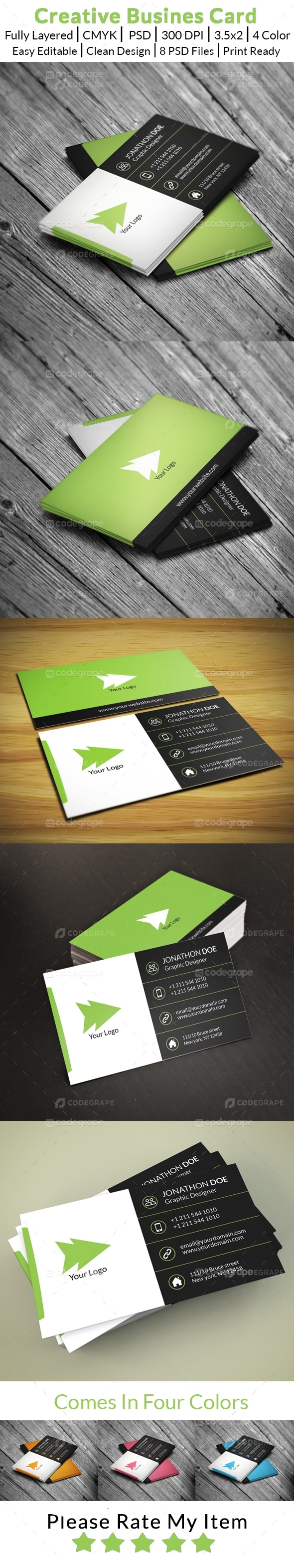 Creative Busines Card (Four Color Versions)