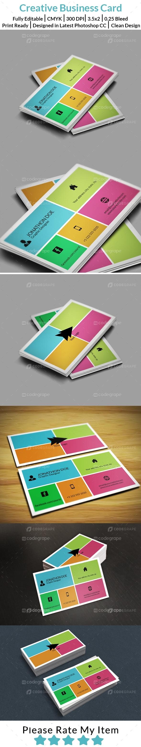 Creative Square Business Card