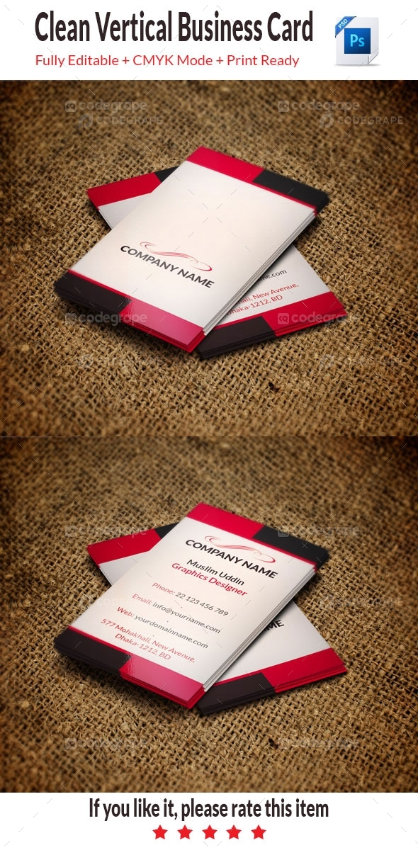 Clean Business Card Vertical