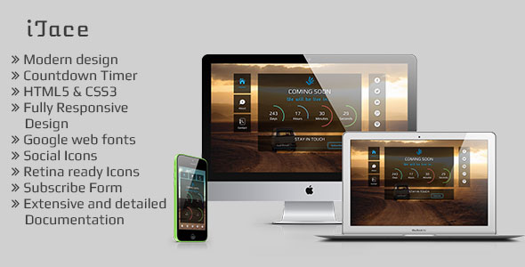 iTace - Responsive Countdown Template