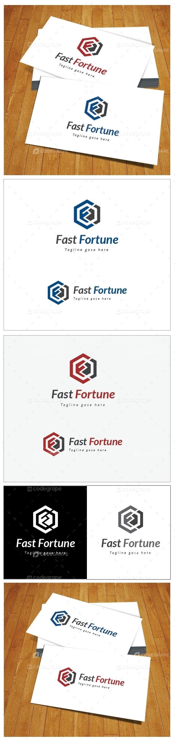 Fast Fortune F Letter Logo