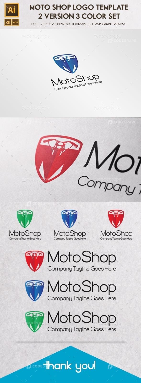 Moto Shop Logo Template