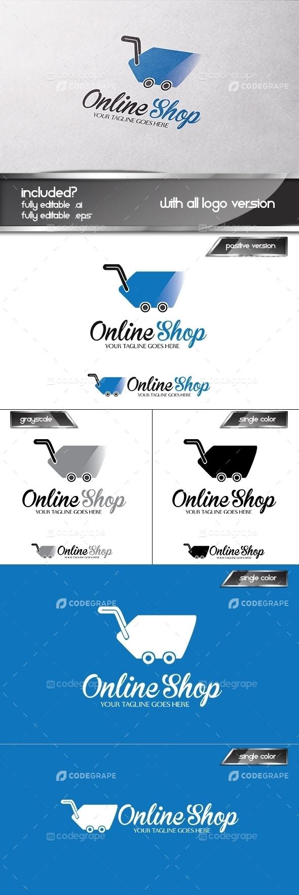 Online Shop Logo Set