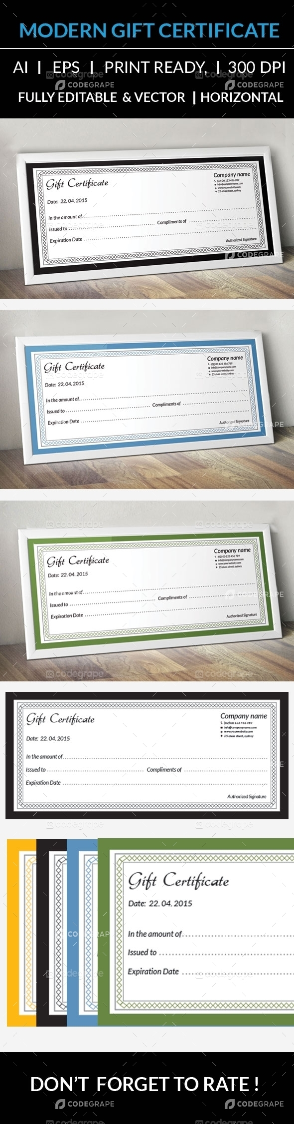 Clean Gift Certificate