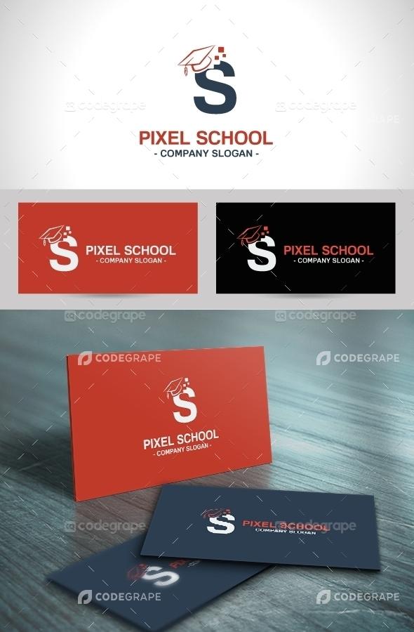 Pixel School Logo Template