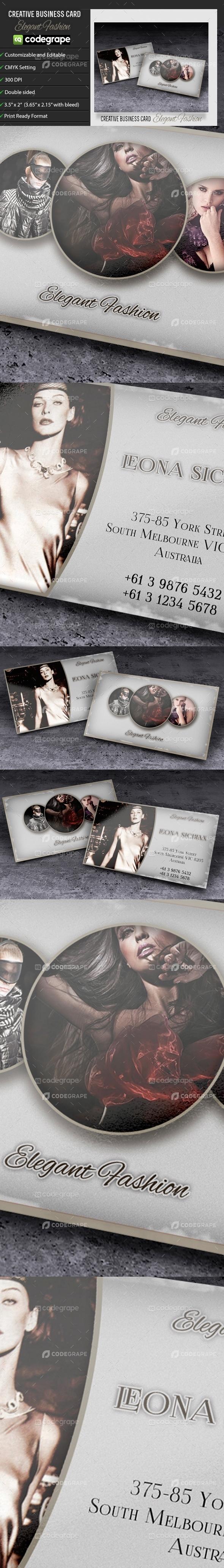 Business Card Elegant Fashion