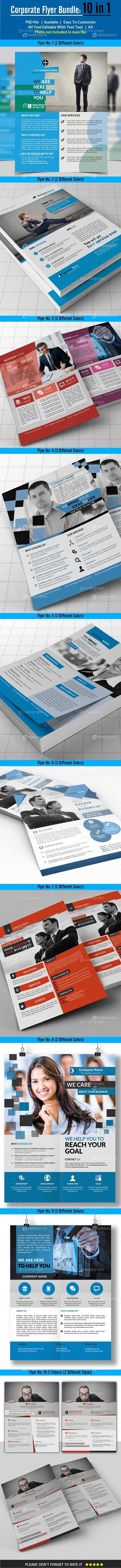 Corporate Flyer Bundle 10 in 1