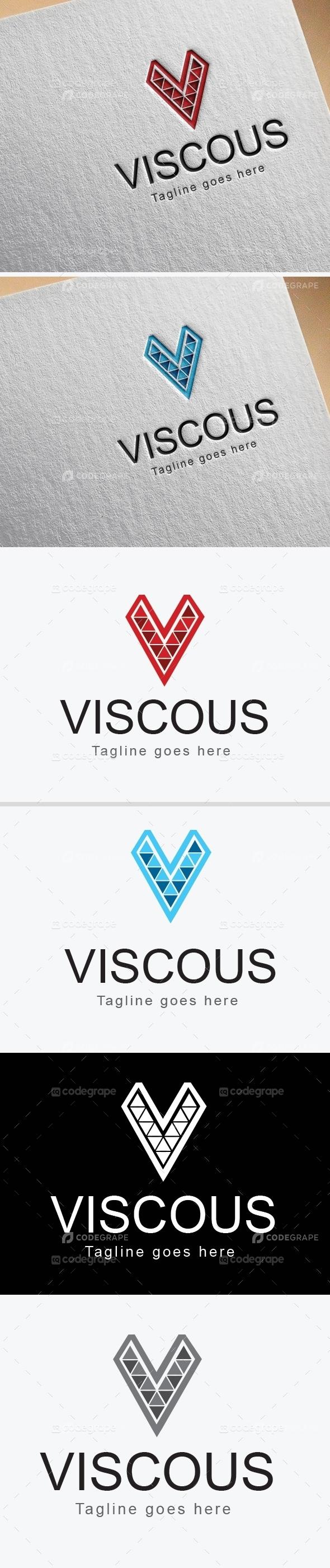 Viscous  V Letter Logo