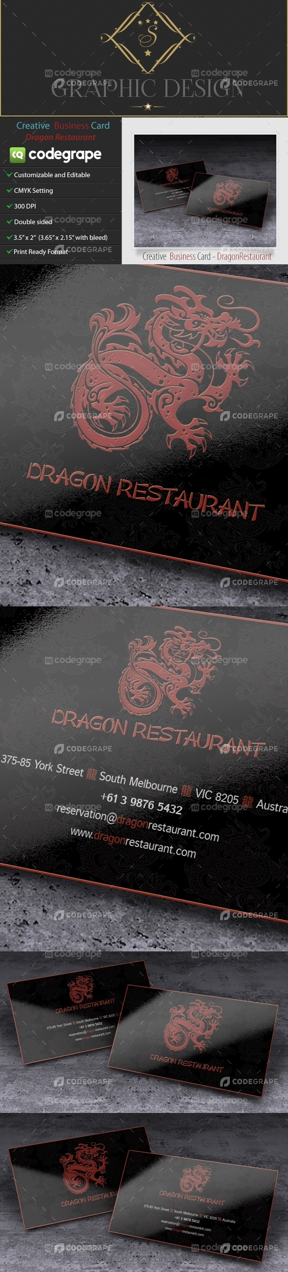 Creative Business Card - Dragon Restaurant