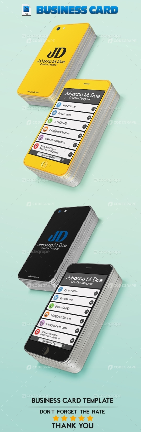 iPhone JD Business Card