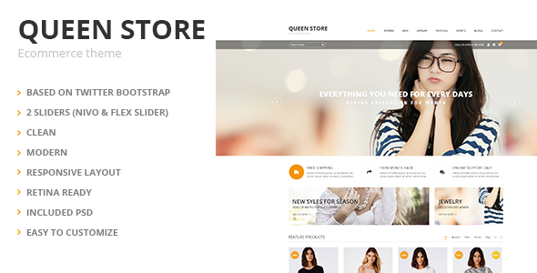 QueenStore - Modern Ecommerce HTML Template