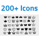 200+ Royal Crown Icons Mega Pack