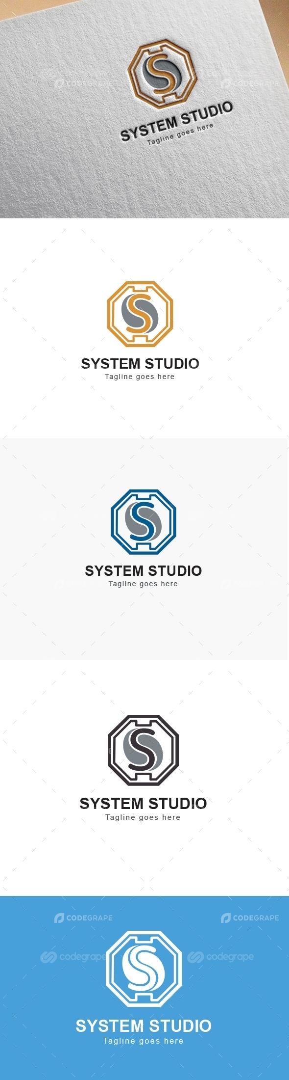 System Studio S Letter Logo