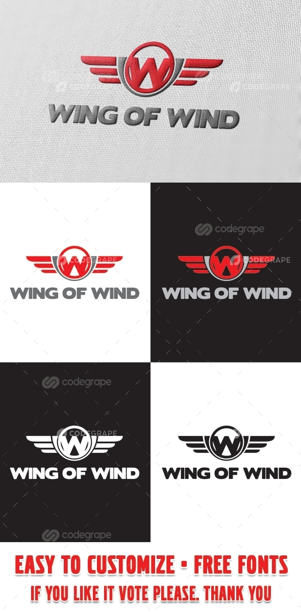 Wing of Wind Logo Template