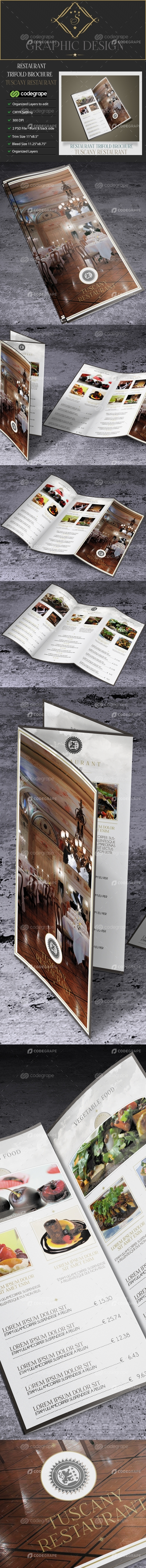 Restaurant TriFold Brochure Tuscany