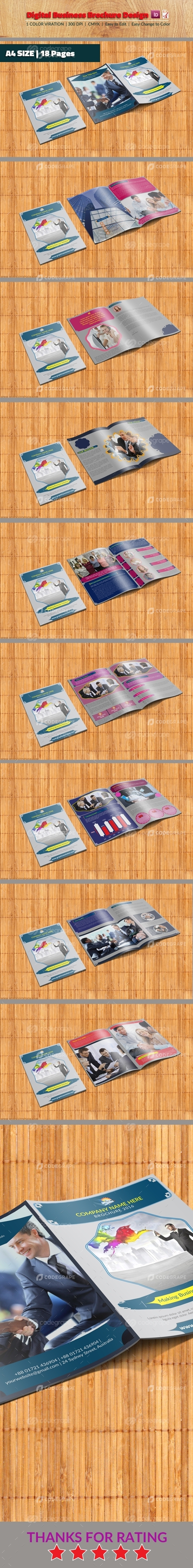 Digital Business Brochure Design