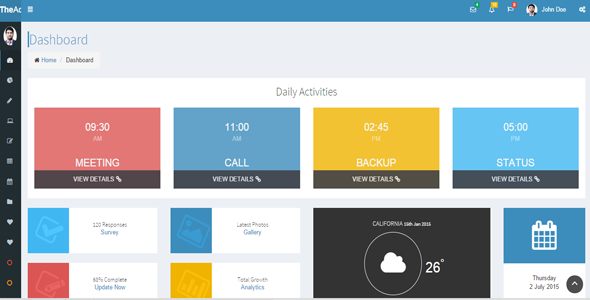 The Admin - Multipurpose Dashboard Template