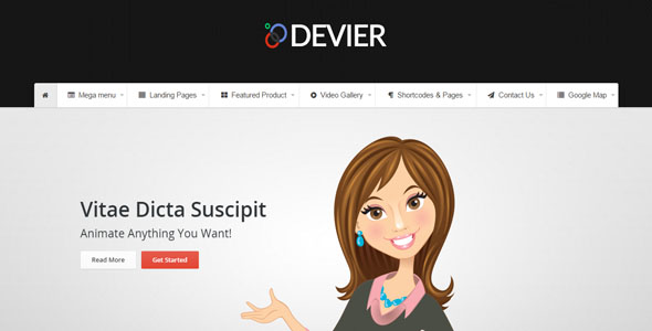 DEVIER - Responsive Bootstrap Template