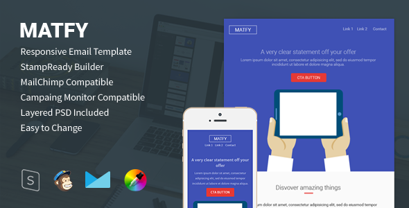 Matfy - Responsive Email for StampReady Builder