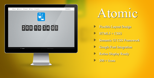 Atomic Coming Soon Template