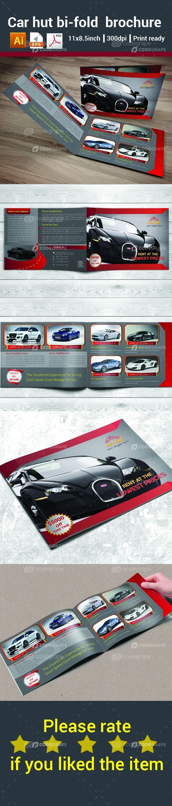 Car Hut Bi-fold Brochure