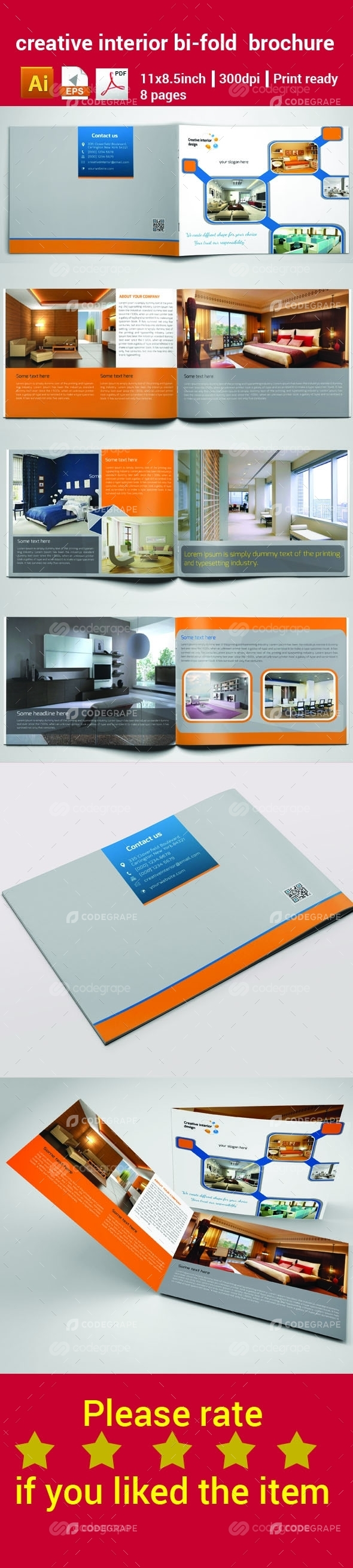 Creative Interior Bi-Fold Brochure