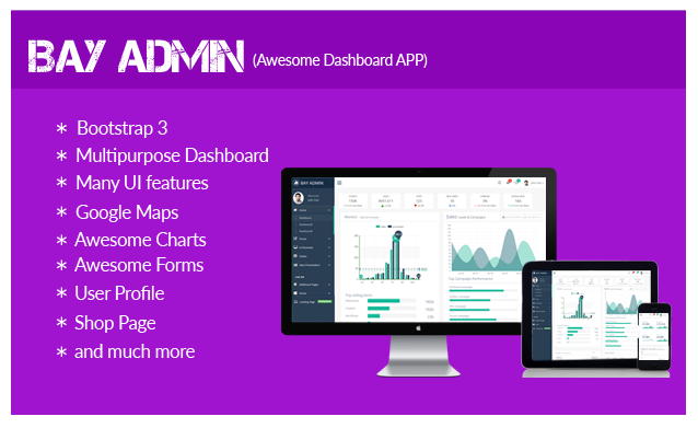 Bay Admin - Multipurpose Dashboard