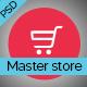 Master Store - E-Commerce PSD Template