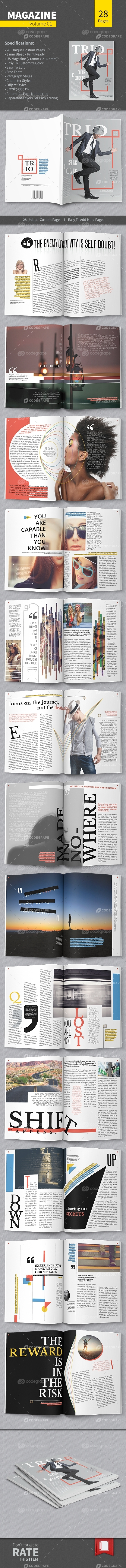 Magazine Template - Volume 01