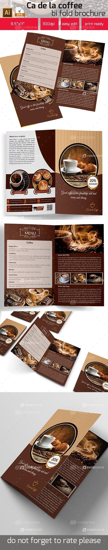 Ca De La Coffee Bi Fold Brochure