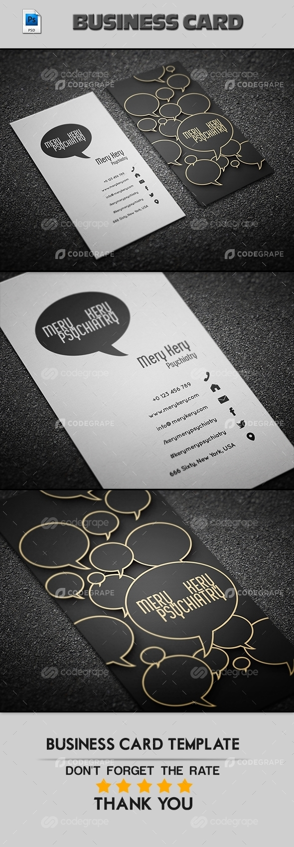 Psychiarty Business Card Teamplate
