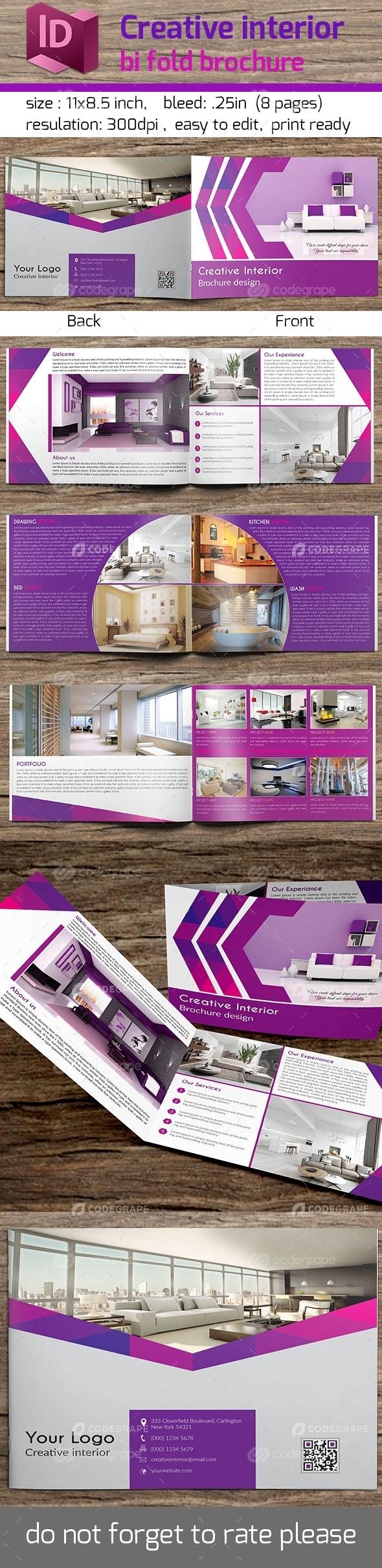 Creative Interior Bi Fold Brochure