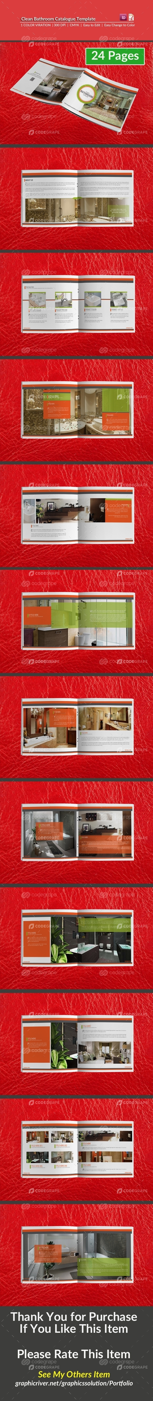 Clean Bathroom Catalogue Template