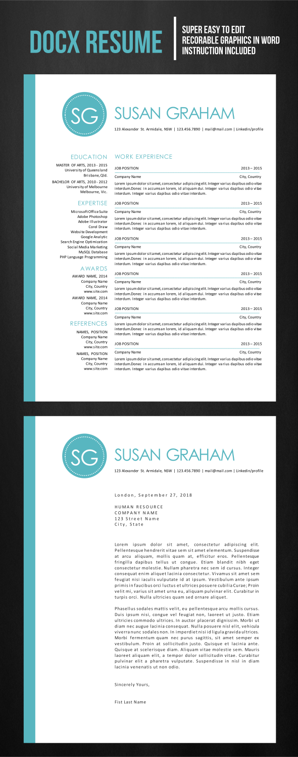 Resume only in MS Word Format