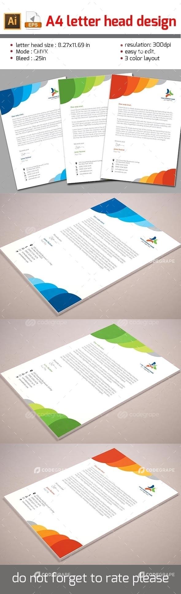 Letter Head Design A4