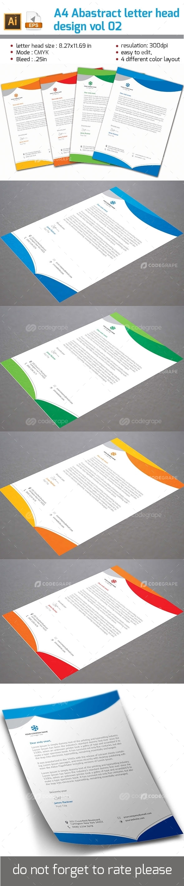 Abstract Letter Head Design vol 02