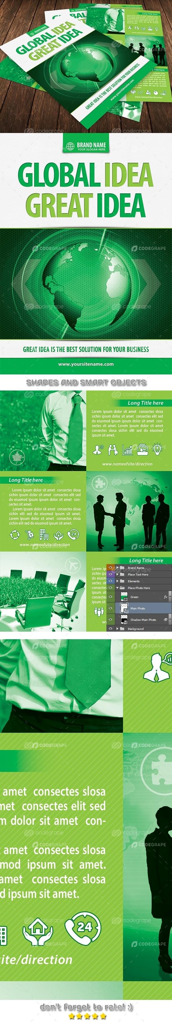 Green Business Idea Flyer Template