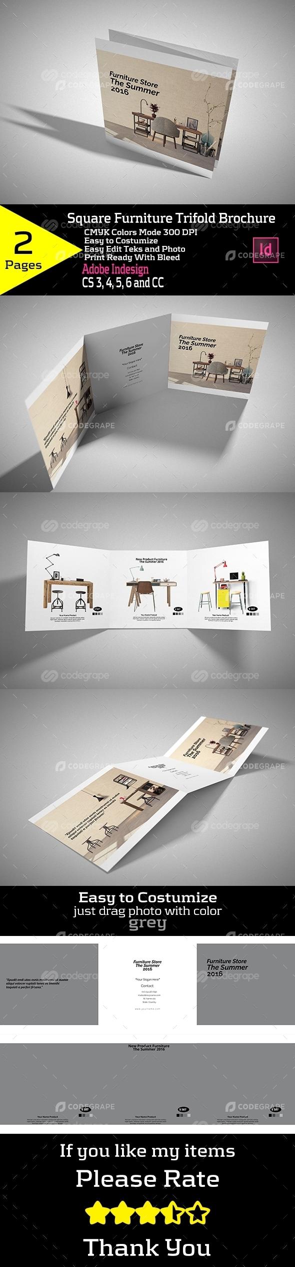 Square Furniture Trifold Brochure