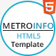MetroInfo - One Page Business Template
