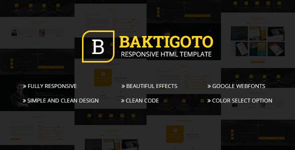 Baktigoto - Responsive Resume & Portfolio HTML5 Template