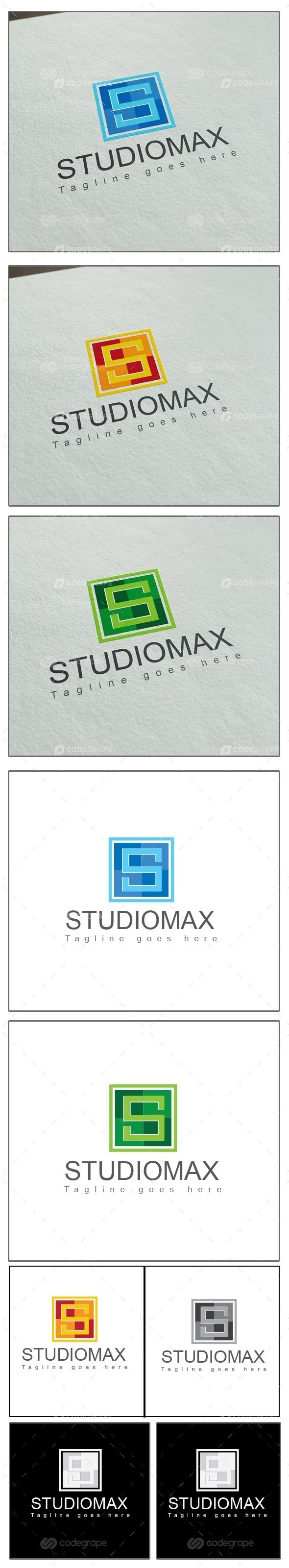 Studiomax s Letter logo