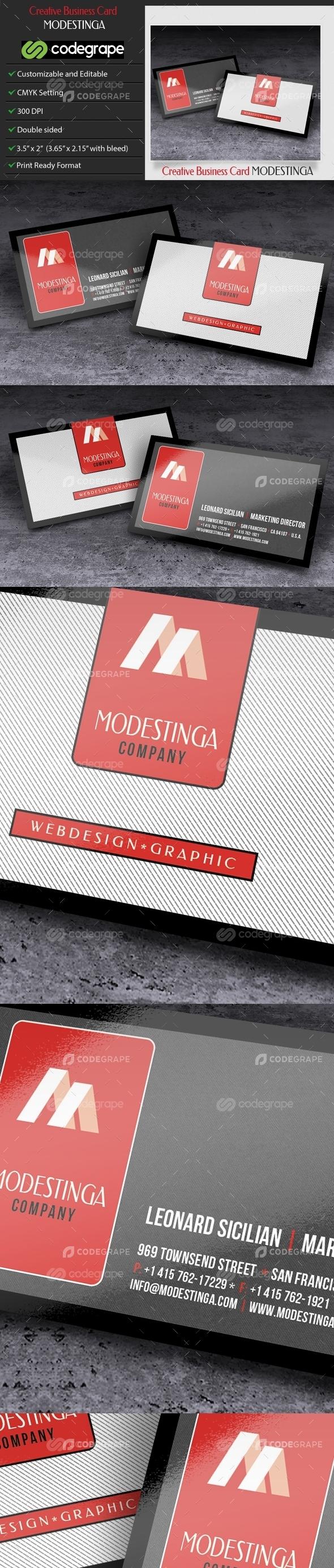 Creative or Corporate Business Card - Modestinga
