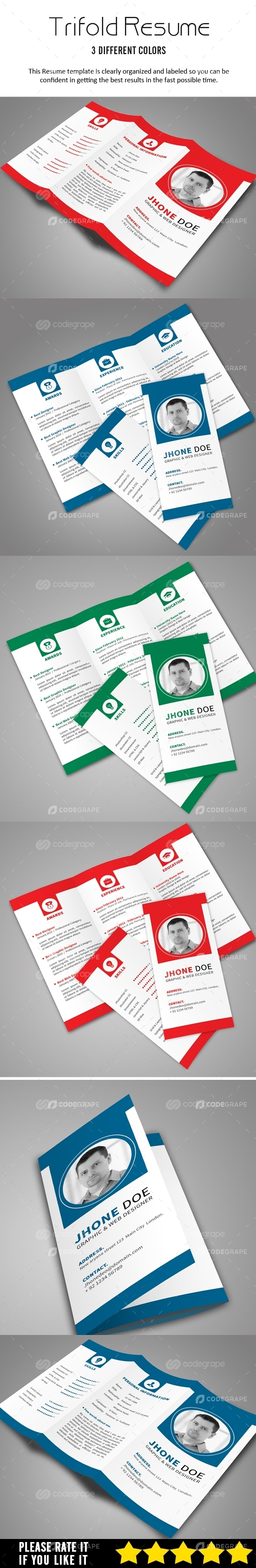 Resume Trifold