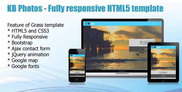 KB Photos - Fully Responsive HTML5 Template