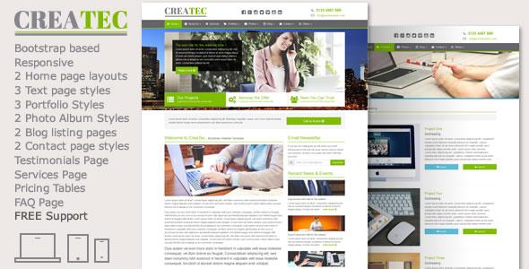 CreaTec - Business Website Template
