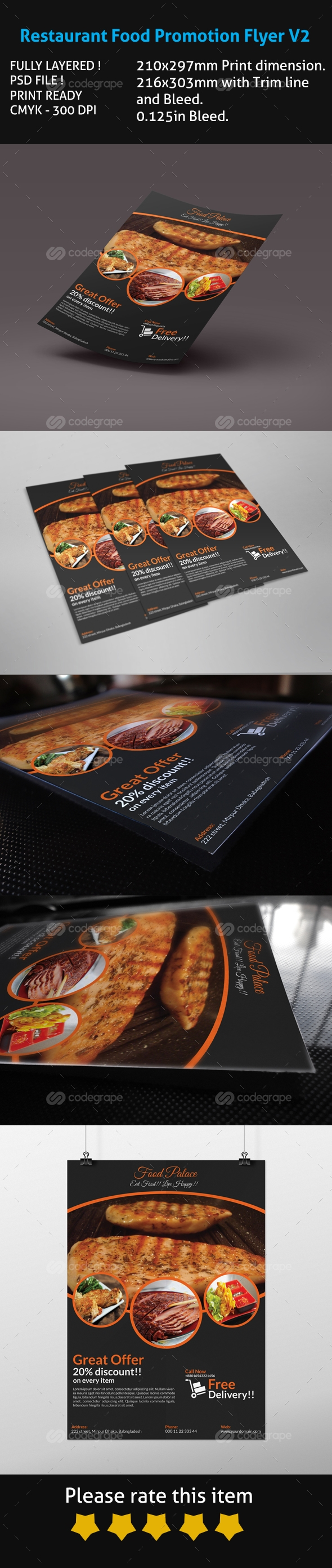 Restaurant Food Promotion Flyer