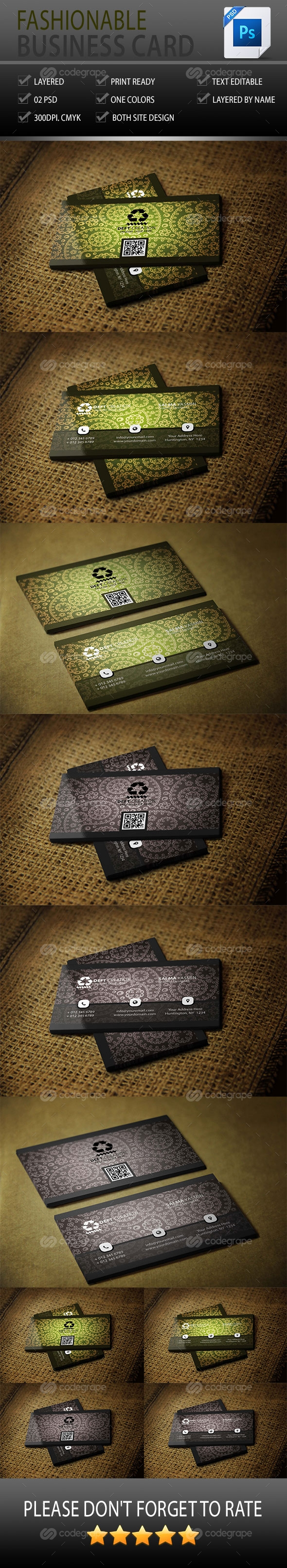 Fashionable Business Card Vol-1.0