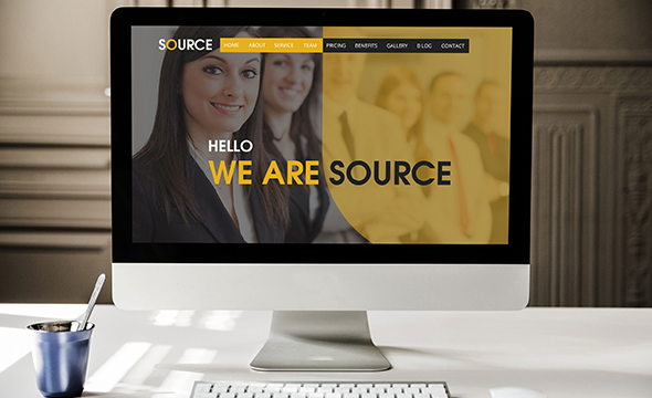 Source - One Page Multi-Purpose Template